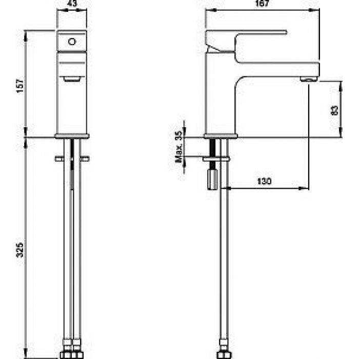Смеситель VitrA Q Line A40775EXP для раковины