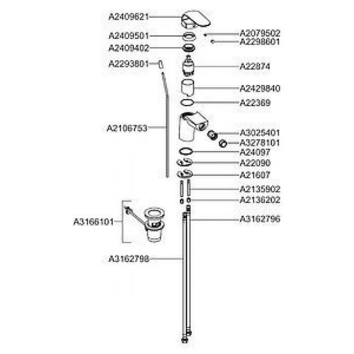 Смеситель VitrA Style-X A40172EXP для биде