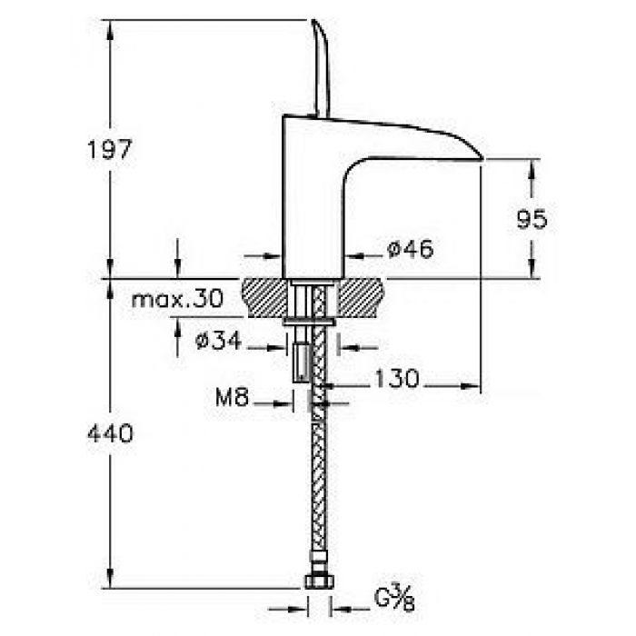 Смеситель VitrA T4 A41242EXP для раковины