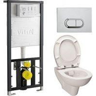 Комплект VitrA S20 9004В003-7202 кнопка хром