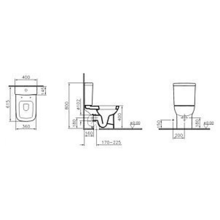 Унитаз-компакт VitrA S20 9819B003-7202 с микролифтом