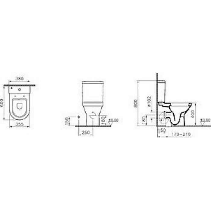 Унитаз-компакт VitrA S50 9798B003
