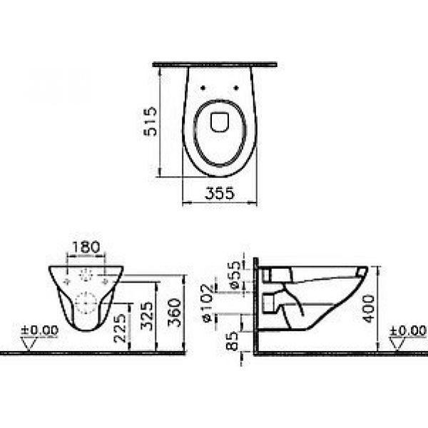 Унитаз подвесной VitrA Arkitekt 6107B003-0075
