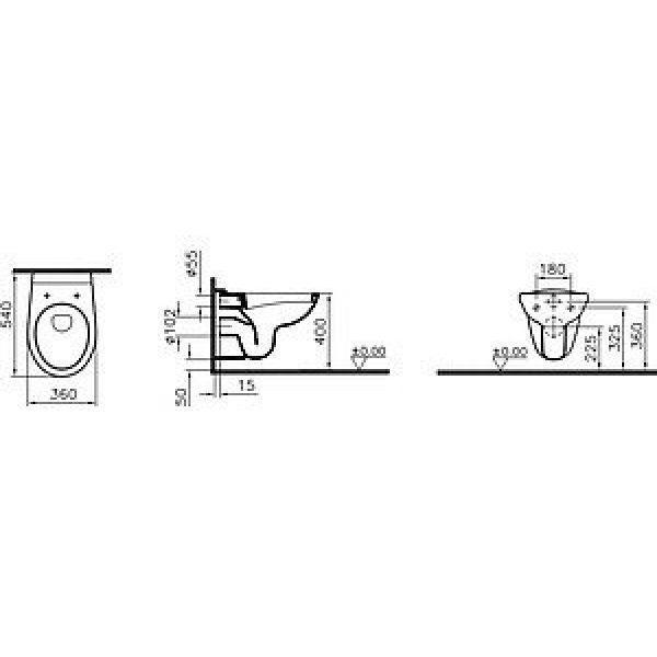 Унитаз подвесной VitrA Normus 6855B003-0353