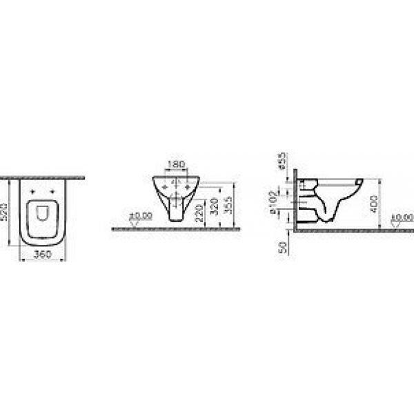 Унитаз подвесной VitrA S20 5507B003-0101