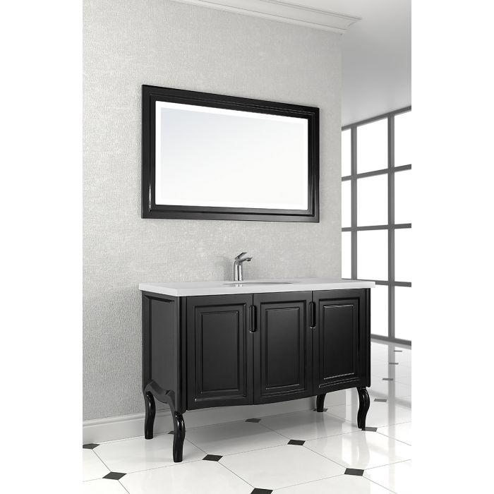 Зеркало Vod-ok Эльвира 80 с подсветкой (Черный)