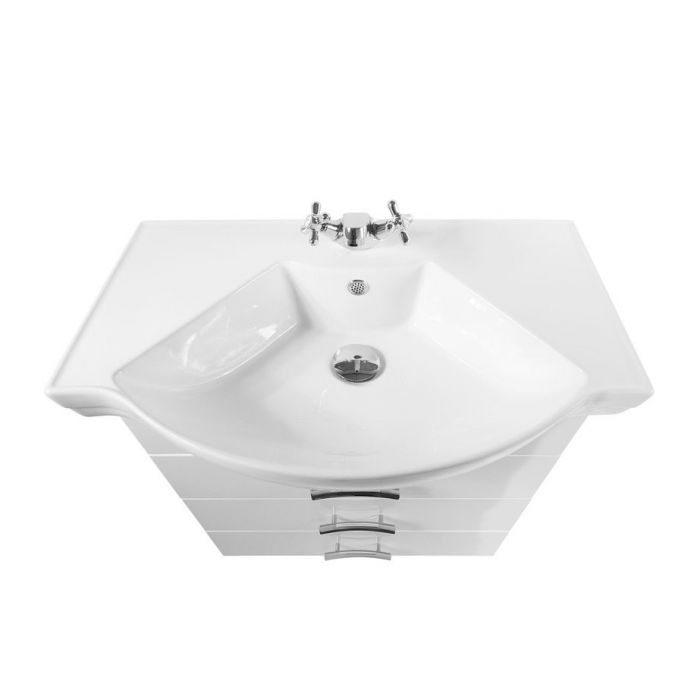 Тумба для ванной комнаты Vod-ok Абрис-70 белый