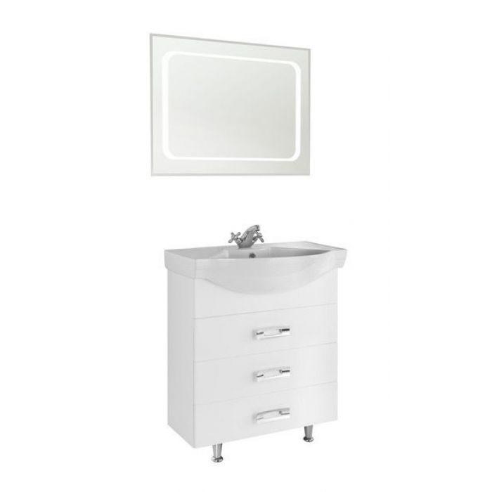 Комплект мебели для ванной комнаты Vod-ok Абрис-70 белый