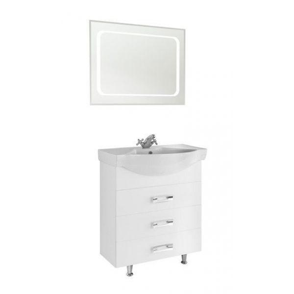 Тумба для ванной комнаты Vod-ok Абрис-80 белый
