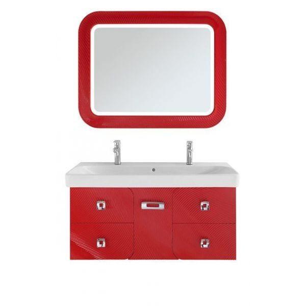 Зеркало для ванной комнаты Vod-ok Арнелла -120 красный