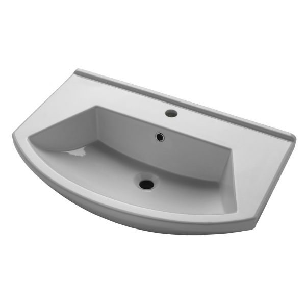 Тумба для ванной комнаты Альфа 75 белая