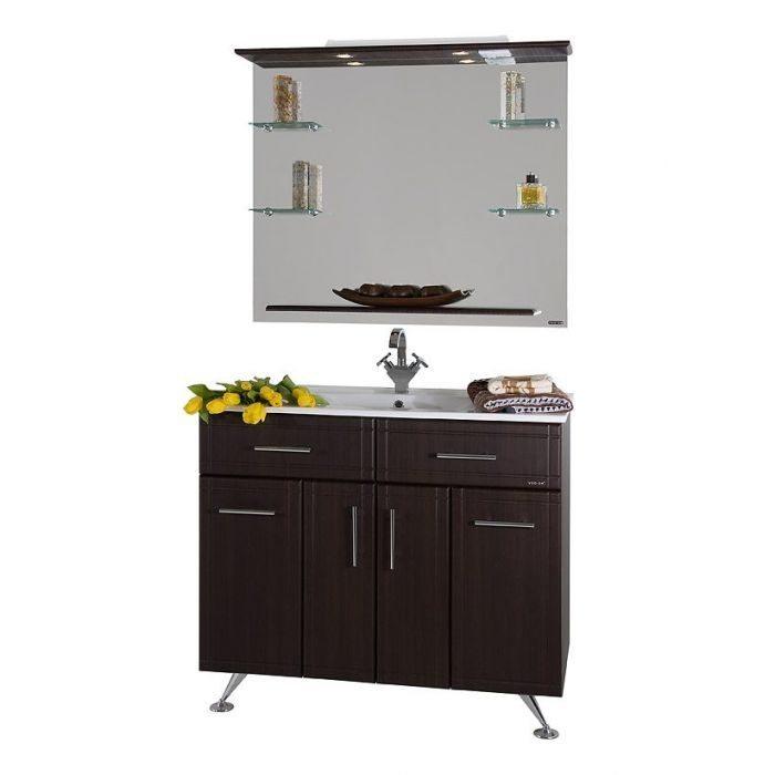 Комплект мебели для ванной Ницца Д 100 Венге