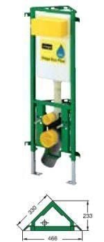 Угловой модуль для унитаза Viega Eco Plus 8141.2 Монтажная высота 1130 мм